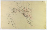 view D-1249: Map of area including Palestine, Syria, Iraq, and Iran, drawn by Ernst Herzfeld digital asset: Map of area including Palestine, Syria, Iraq, and Iran, drawn by Ernst Herzfeld