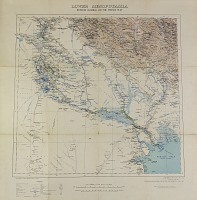 "view D-1268: Map. ""Lower Mesopotamia 1:1000000."" From Baghdad to Persian Gulf. British War Office, 1907; modified by German General Staff, 1911 and printed 1915 digital asset: German General Staff Map of Lower Mesopotamia, Between Baghdad and the Persian Gulf"