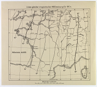 view D-1270: Three maps Specifying Magnetic Lines Guide for England, France, and Poland digital asset: Three maps Specifying Magnetic Lines Guide for England, France, and Poland