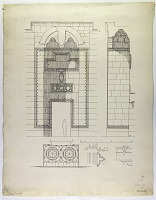 view D-1277: Damascus (Syria): Madrasa Adiliya: Elevation of Portal digital asset: Damascus (Syria): Madrasa Adiliya: Elevation of Portal [drawing]
