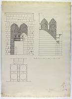 view D-1278: Damascus (Syria): Madrasa al-Kilidjiyya: Elevation of Portal digital asset: Damascus (Syria): Madrasa al-Kilidjiyya: Elevation of Portal [drawing]