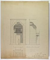view D-1279: Ma'arat al-Nu'man (Syria): Abu al-Fawaris Madrasa, Entrance Portal: Ground Plan, Elevation and Section digital asset: Ma'arat al-Nu'man (Syria): Abu al-Fawaris Madrasa, Entrance Portal: Ground Plan, Elevation and Section [drawing]