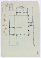 view D-1349: Aleppo (Syria): Mosque of al-Hayyat: Ground Plan, Sketch and Notes digital asset: Aleppo (Syria): Mosque of al-Hayyat: Ground Plan, Sketch and Notes [drawing]