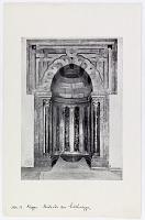 view D-1370: Aleppo (Syria): Madrasa al-Sultaniyya, Prayer Hall: View of the Mirhab digital asset: Aleppo (Syria): Madrasa al-Sultaniyya, Prayer Hall: View of the Mirhab [drawing]