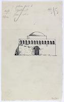view D-1383: Gira District (Iran): Fire Temple Car-taq: Reconstruction of Facade digital asset: Gira District (Iran): Fire Temple Car-taq: Reconstruction of Facade [drawing]