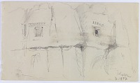 view D-1397: Excavation of Istakhr (Iran): Sketch of Two Rock-Cut Tombs (Astudans) digital asset: Excavation of Istakhr (Iran): Sketch of Two Rock-Cut Tombs (Astudans) [drawing]