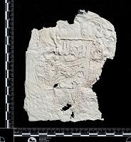 view Tus (Iran): Squeeze of Arabic Inscription, on Gravestone Found near Haruniya Mausoleum digital asset: Tus (Iran): Squeeze of Arabic Inscription, on Gravestone Found near Haruniya Mausoleum