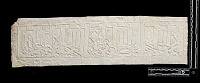 view SQ 29: Sunghur, tombstone. Single line Kufic. See N-117, p.4 and SK-I, p.28, top digital asset: Sunghur (Iran): Squeeze of Arabic Inscription, in Kufic Script, from Unidentified Gravestone