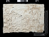 "view SQ 45: Naqsh-i Rustam: print marked. ""bab. R. Ic 1--5"" digital asset: Naqsh-i Rustam (Iran): Squeeze of Inscription, DNb, Akkadian Version, on the Tomb of Darius I"