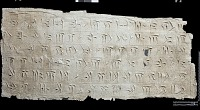 """view SQ 62: Persepolis, Great Terrace inscription. Old Persian text, 69a. digital asset: Excavation of Persepolis (Iran): Squeeze of """"Foundation Inscriptions,"""" DPd, Old Persian Version, Inscribed on Southern Terrace Wall"""