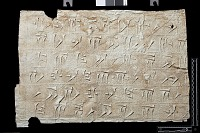 """view SQ 64: Persepolis, Great Terrace inscription. Old Persian text, 69c. digital asset: Excavation of Persepolis (Iran): Squeeze of """"Foundation Inscriptions,"""" DPd, Old Persian Version, Inscribed on Southern Terrace Wall"""