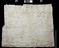"""view SQ 65: Persepolis, Great Terrace inscription. Old Persian text, 69d. digital asset: Excavation of Persepolis (Iran): Squeeze of """"Foundation Inscriptions,"""" DPd, Old Persian Version, Inscribed on Southern Terrace Wall"""