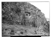 view Sahna (Iran): View of Rock-Cut Tomb digital asset: Sahna (Iran): View of Rock-Cut Tomb [graphic]