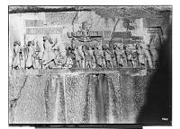 view Bisutun Site (Iran): Relief and Inscription of Darius: Close View of the Entire Scene digital asset: Bisutun Site (Iran): Relief and Inscription of Darius: Close View of the Entire Scene [graphic]