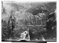 view Sarpul (Iran): Rock Reliefs Depicting Standing Man in front of Horseman digital asset: Sarpul (Iran): Rock Reliefs Depicting Standing Man in front of Horseman [graphic]