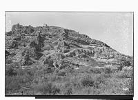 view Bishapur (Iran): Over a Rocky Cliff, Ruins of a Sasanian Fortress digital asset: Bishapur (Iran): Over a Rocky Cliff, Ruins of a Sasanian Fortress [graphic]