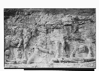 view Bishapur (Iran): Sassanid Reliefs Depicting the Investiture of Shapur I: Detail View of Roman Emperor Philip the Arab Kneeling in front of the King digital asset: Bishapur (Iran): Sassanid Reliefs Depicting the Investiture of Shapur I: Detail View of Roman Emperor Philip the Arab Kneeling in front of the King [graphic]