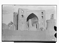 view Linjan District (Iran): Pir-i Bakran Mausoleum: View of the Entrance Iwan digital asset: Linjan District (Iran): Pir-i Bakran Mausoleum: View of the Entrance Iwan [graphic]