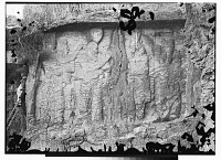 view Naqsh-i Rajab (Iran): Sassanid Rock Reliefs, Investiture Relief of Ardashir I: View of Relief Picturing Ardashir I Grasping the Ring of Investiture digital asset: Naqsh-i Rajab (Iran): Sassanid Rock Reliefs, Investiture Relief of Ardashir I: View of Relief Picturing Ardashir I Grasping the Ring of Investiture [graphic]