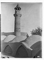 view Sabzavar (Iran): Pa Minar Mosque: View of the Seljuk Minaret digital asset: Sabzavar (Iran): Pa Minar Mosque: View of the Seljuk Minaret [graphic]