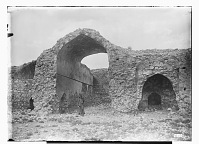 view Zafarani (Iran): Ruins of a Caravansarai: View of a Large Iwan, Looking from inside the Courtyard digital asset: Zafarani (Iran): Ruins of a Caravansarai: View of a Large Iwan, Looking from inside the Courtyard [graphic]