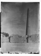 view Damghan (Iran): Tarik Khana: View of Cylindrical Minaret from the Seljuk Period digital asset: Damghan (Iran): Tarik Khana: View of Cylindrical Minaret from the Seljuk Period [graphic]