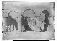 view Damghan (Iran): Tarik Khana, Courtyard's Facade: Close View of the Central Aisle (Qibla Side) digital asset: Damghan (Iran): Tarik Khana, Courtyard's Facade: Close View of the Central Aisle (Qibla Side) [graphic]
