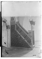view Tripoli (Lebanon): Taynal Mosque: View of Wooden Minbar [graphic] digital asset number 1