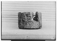 view Round Stone Hittite Pyxis Bearing on its Surface, in Low Relief, Banquet Scene and Procession [graphic] digital asset number 1