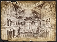 view [Istanbul (Turkey): Photograph of Inside the Hagia Sofia Basilica] [graphic] digital asset number 1
