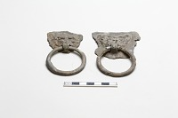 view Pair of monster masks with pendant rings digital asset number 1