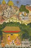 view A summer month, possibly Vaisakh, folio from a <em>Barahmasa</em> series digital asset number 1
