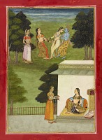 view Krishna playing with the <em>gopis</em>, folio from a <em>Rasikpriya</em> digital asset number 1