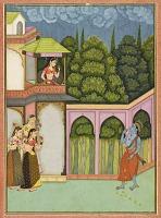 view Krishna approaches Radha, folio from a <em>Rasikpriya</em> digital asset number 1