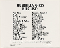 view Guerrilla Girls Hits List (from Portfolio Compleat: 1985-2012) digital asset number 1