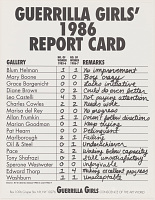 view Guerrilla Girls 1986 Report Card (from Portfolio Compleat: 1985- 2012) digital asset number 1