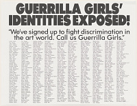view Guerrilla Girls' identities exposed! (from Portfolio Compleat: 1985-2012) digital asset number 1