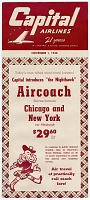 view Airlines, Capital Airlines (USA), Timetable. [ephemera] digital asset number 1