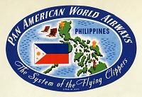 view Airlines, Pan American Airways (Pan Am) (USA), Baggage Label. [ephemera] digital asset number 1