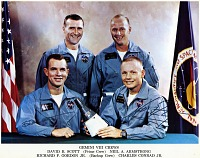 "view Gemini 8 Flight, Crew; Scott, David Randolph ""Dave""; Armstrong, Neil Alden; Gordon, Richard Francis ""Dick,"" Jr.; Conrad, Charles ""Pete"", Jr.. [photograph] digital asset number 1"