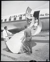 view Air Transport, Airlines, Mohawk Airlines (USA); Convair 240 Convair-Liner; Safety, Emergency Evacuation. [photograph] digital asset number 1