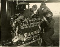 view Wade, Leigh (Lt); Smith, Lowell Herbert (Lt); Ogden, Henry J. (Sgt); Douglas World Cruiser (DWC), World Flight, Crew Photos;P̀ropulsion, Engines, Liberty L12-A 12-Cylinder V, General. [photograph] digital asset number 1