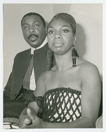 view Photographic print of Nina Simone and Dick Gregory digital asset number 1