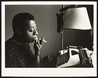view <I>James Baldwin by His Typewriter, Istanbul 1966</I> digital asset number 1