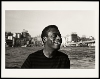 view <I>James Baldwin on a water taxi, crossing the Golden Horn, Istanbul 1965</I> digital asset number 1