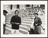 view <I>James Baldwin feeding pigeons, Eminonu, Istanbul, 1965</I> digital asset number 1