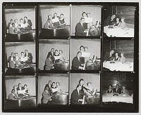 view Contact sheet of photographs of Nat King Cole playing the piano digital asset number 1