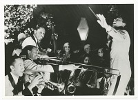 view Print of Cab Calloway conducting his band digital asset number 1