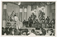 view Print of Cab Calloway and his band performing on stage digital asset number 1