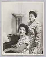view Photograph of Velma Middleton and an unidentified woman at a piano digital asset number 1